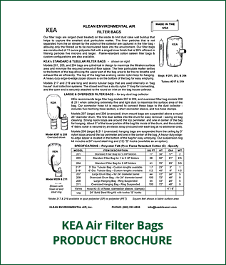 KEA Industrial Air Filter Bags Brochure